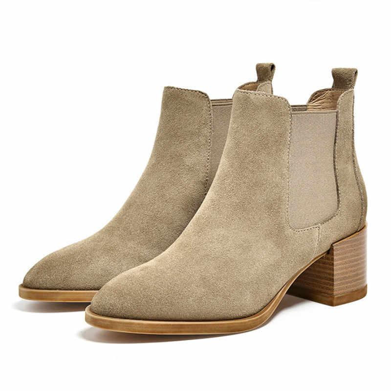 Chelsea botları sonbahar ve kış ve kısa çizmeler of kadın ayakkabısı
