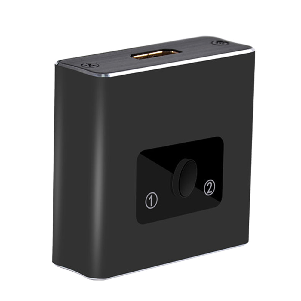 4K 3D DVD HDTV Bidirectional High Speed HDMI Switch Portable 1080P Aluminium Alloy Laptop Plug And Play 1 Input 2 Output Home