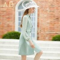 Elegant Blazer Dress Women Suit Jacket High Quality Spring Autumn Fashion Long Sleeve OL Office Lady Formal Business Work Wear