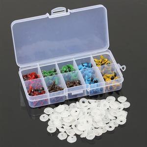 Image 5 - Toptan 100 adet/50 çift 5 renk Mix 8mm plastik güvenlik gözler kutusu oyuncak ayı doldurulmuş oyuncak yapış hayvan kukla bebek zanaat DIY