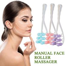 Facial Massager Roller Manual Face-lift Slimming Relaxation Flower Shape Anti Wrinkle Face
