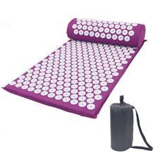 Massager Cushion(appro.66*42cm) Massage Mat Pillow Set Acupressure Relieve Back Body Pain Spike Yoga Cushion