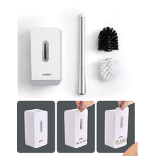 Toilet Brush set Cleaning Intelligent Punch-free Bathroom Convenient Replacement soft Hair Dead Angle Witho