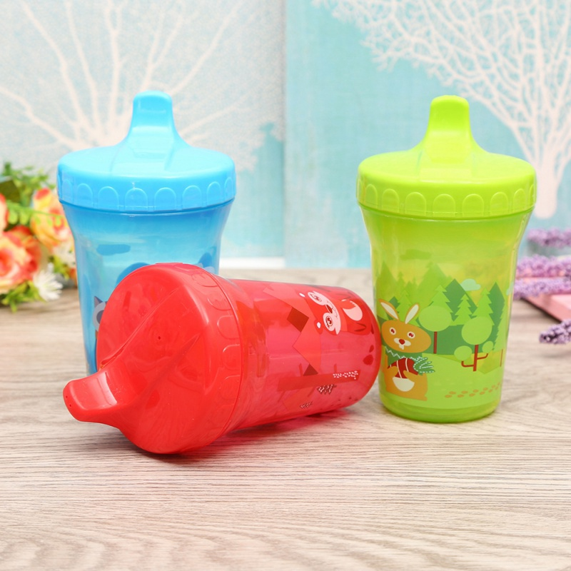 210 Ml Baby Feeding Cup Thicken Kids Children Learn Feeding Drinking Water Straw Bottle Training Baby Feeding Cup