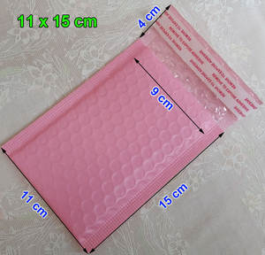 Pink Packaging Padded Envelope Bubble-Mailers Self-Seal 100pcs 11--15cm Usable-9x15cm
