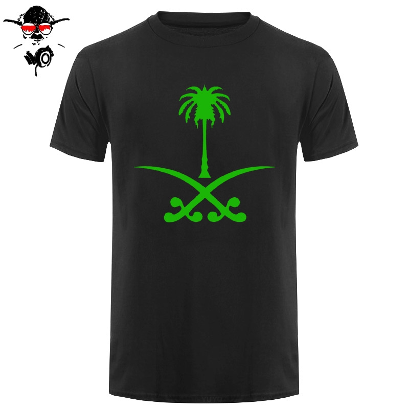 Saudi Arabia T Shirts Tops Men Cotton Shirt Short Sleeve Saudi Arabian Flag T-shirt Mans Tshirt