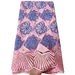 Image 5 - แอฟริกันภาษาฝรั่งเศสคำลูกไม้ผ้า Tulle คุณภาพสูงไนจีเรีย Laces ผ้า ROYAL BLUE ลูกไม้ปักผ้าตาข่ายสำหรับชุดปาร์ตี้