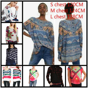 DESIGUAL 2019 Spanish Deg spring and autumn thin medium and long knitted sweaters xs-xxl