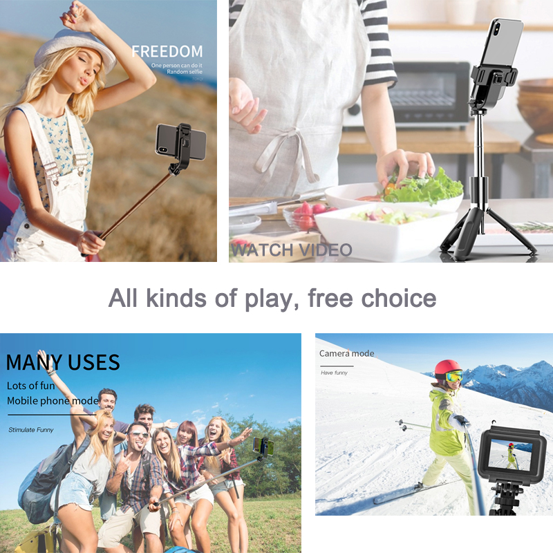 4 In1 Bluetooth Draadloze Selfie Stok Statief Opvouwbare & Monopods Universal Voor Smartphones Voor Gopro En Sport Action Camera 6