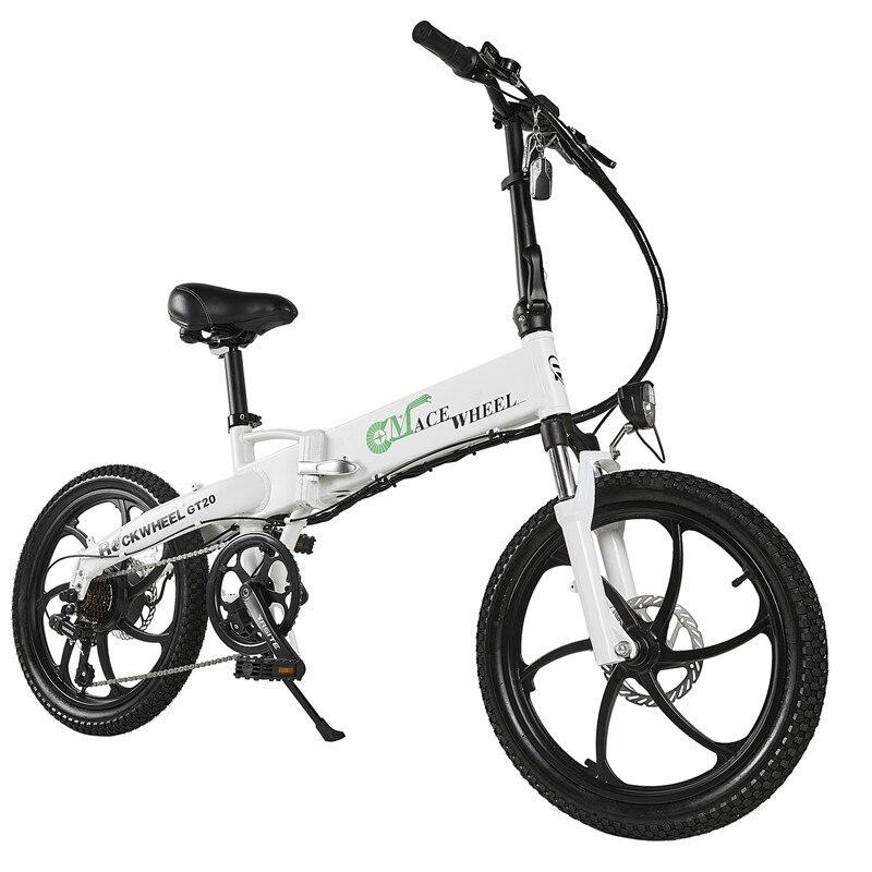 Elektrische fahrrad 20 zoll 350W elektrische klapp fahrrad 48V 10A lithium-batterie für freizeit Europäischen warehousing