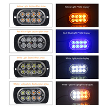 NEW Car LED Strobe Lamp Help Flash 8 LED SMD Flashing Pickup Ultra Thin Side Light Signal Lamp Warning Light 12V/24V Truck keizik k a333 8 led shark gill solar side vent warning light black