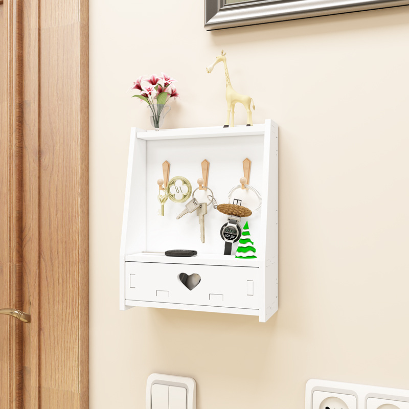 Wall Hanging Key Hook Jewelry Storage Box Multi-Purpose Wall Hanging Hook Storage Holder Home Wall Decor
