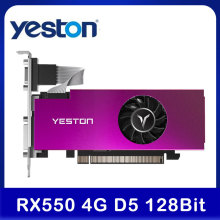 Yeston RX 550 RX550 4G D5 Graphic Card Video Card Radeon Chill PC 4GB Memory GDDR5 128Bit Graphics Card 6000MHz VGA HD DVI-D GPU