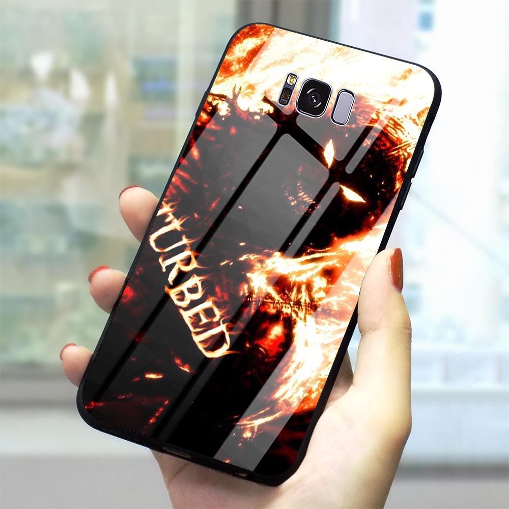 Pattern Disturbed Rock Band Glass Phone Cover for Samsung Galaxy S10 Case A70 A60 M40 A50 A40 A20 A30 A10 S7 Edge S8 S9 Plus image