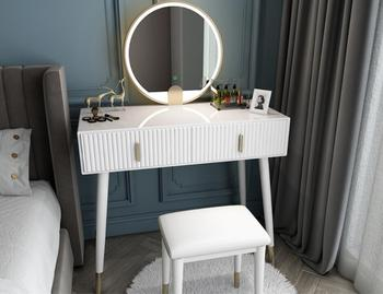 Nordic dressing table and dressing table small apartment bedroom modern minimalist light luxury paint makeup table with light northern europe light luxury style dressing table bedroom modern simple dressing table small family european style dressing tabl