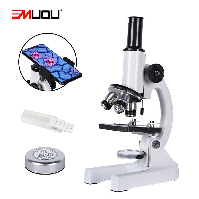 Zoom 640X 1280X 2000X HD Biological microscope Monocular student education laboratory LED light phone holder electronic eyepiece