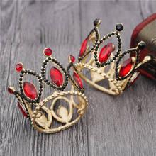 Novo Popular Barroco Pouco Coroa para As Meninas e Meninos de Aniversário Bolo Coroa Cabeça Ornamento Jóias Tiaras