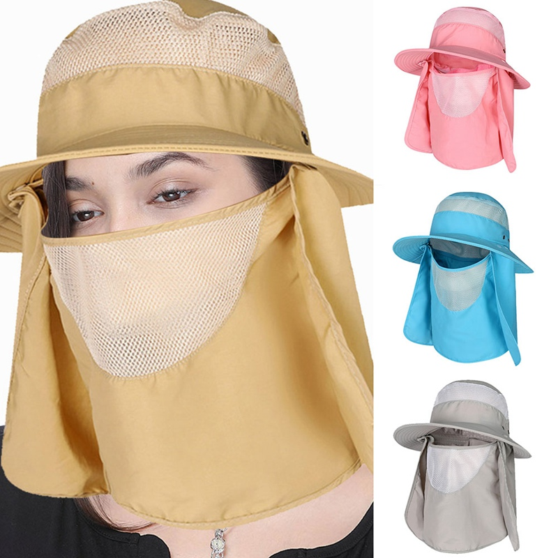 Face Neck Cover Bucket Hat For Women Man Outdoor Sport Hiking Sports Visor Breathable Hats UV Protection Fishing Cap