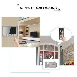 Image 3 - KKmoon sistema de intercomunicación Visual con cámara IR para exteriores, videoportero con cable TFT LCD de 7 pulgadas, intercomunicador con cámara IR impermeable para exteriores