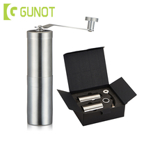GUNOT Manual Set Coffee Grinder Coffee Maker Portable Washable Grinder Machine Gift 304 Stainless Steel Adjustable Coffee Machin portable manual coffee maker with coffee bean grinder all in one machine stainless steel coffee machine cafetiere cafetera