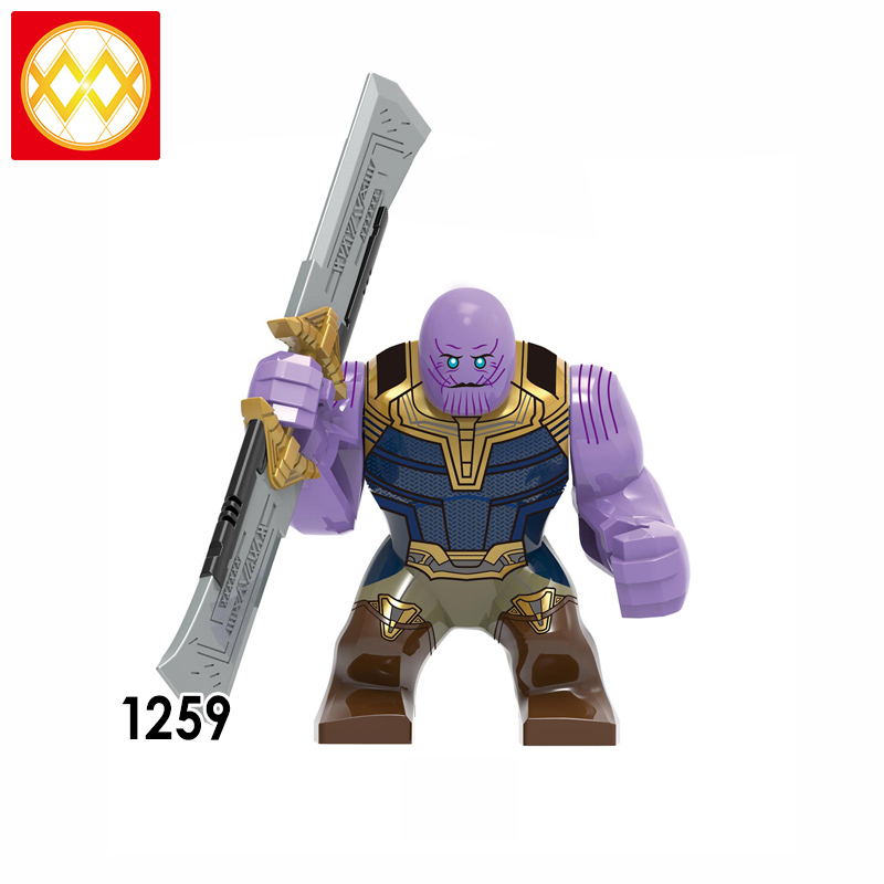 Double-edged Sword NEW Thanos w Lego Minifigure Avengers Super Heroes Toys