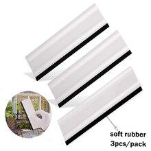 """EHDIS 3PCS 6 """"Fenster Tint Rakel Gummi Rand Carbon Faser Film Vinyl Auto Verpackung Werkzeug Glas Reinigung Werkzeug auto Wrap Schaber"""