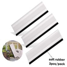"Ehdis 3 pçs 6 ""matiz da janela rodo de borracha borda de fibra carbono filme vinil carro embrulho ferramenta de limpeza de vidro auto envoltório raspador"