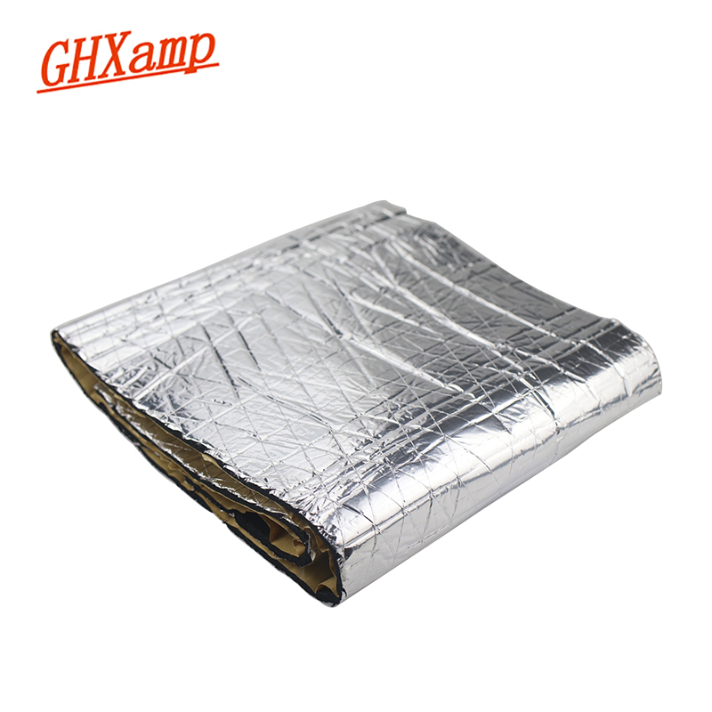 GHXAMP 1Meter*0.2M Car Automobile Aluminum Foil Sound Absorbing Cotton Sound Insulation Material Flame Retardant Self Adhesive
