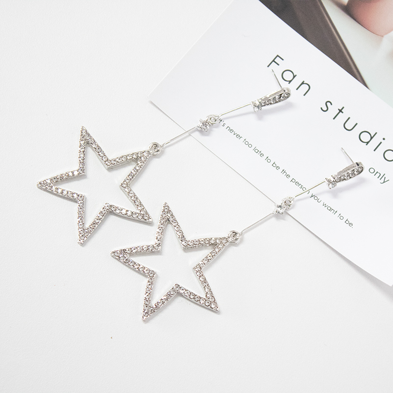 Earrings Jewelry Hot New Style Fashionable High-end Shining Stars Earrings Suitable For Ladies Wear/fashion Glass Beads Earrings