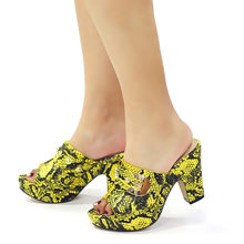 Yellow Color African Women Traditional Wedding Party nice Matching Shoes High Heels Sandals Without Bag Set Italian Lady shoes(China)