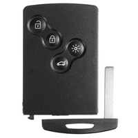 4 Button Smart Card Car Key 433Mhz PCF7952 Chip Remote Key for Renault Megane 3 2009 - 2014