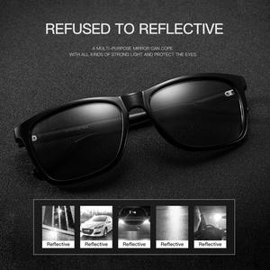 Image 4 - CAPONI Brand Unisex Retro Aluminum+TR90 Square Photochromic Sunglasses Polarized Coating Lens Vintage Sun Glasses For Men BS387