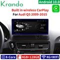 Krando Android 10,0 4G 128G Rom 10,25 ''IPS радио автомобиль аудио для Audi Q5 2009-2020 мультимедиа плеер GPS стерео Беспроводной Carplay