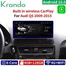 Krando Android 10,0 4G 128G Rom 10,25 ''IPS Radio de coche de Audio para Audi Q5 2009-2020 reproductor Multimedia GPS estéreo inalámbrico Carplay