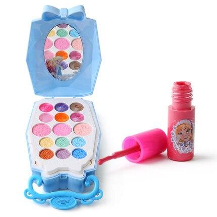 maquiagem conjunto congelado menina casa brinquedo gloss 05