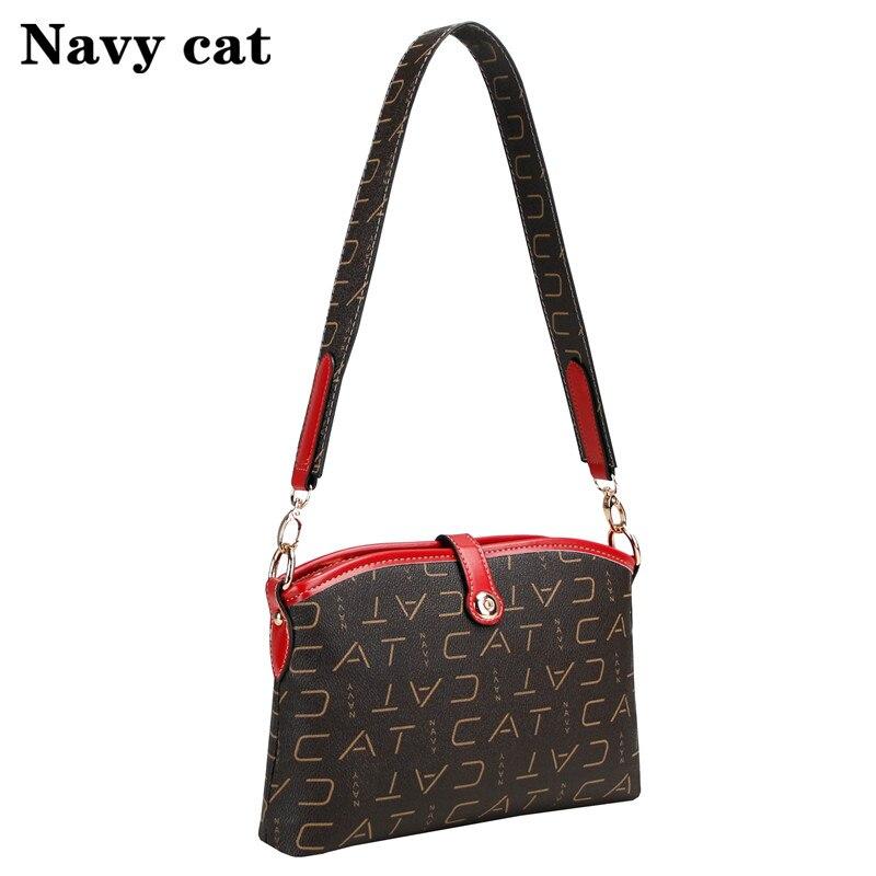 Multifunctional fashion women bag, crossbody bag, brown letter high-grade PVC shoulder bag, luxury brand wild fashion bag