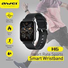 Awei H6 Smart Wristband Smart Bracelet Display Fitness Tracker Waterproof Bluetooth Sport Smart Wristband Heart Rate Smart Band