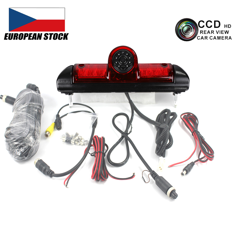 CCD Car Brake Light Led Rear View Camera for FIAT DUCATO X250 Citroen JUMPER III Peugeot BOXER III Car Backup Rear View Camera