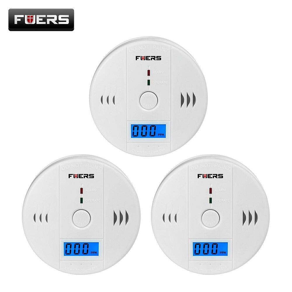 Fuers 3pcs Gas Detector Sensor Carbon Monoxide Work Alone 85db Siren Sound Independent Carbon Monoxide Detectors CO Sensor