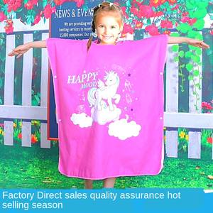Sunscreen Changing-Bathrobe Wearable Printed Windproof Children's BC06 Beach-Cloak Quick-Drying