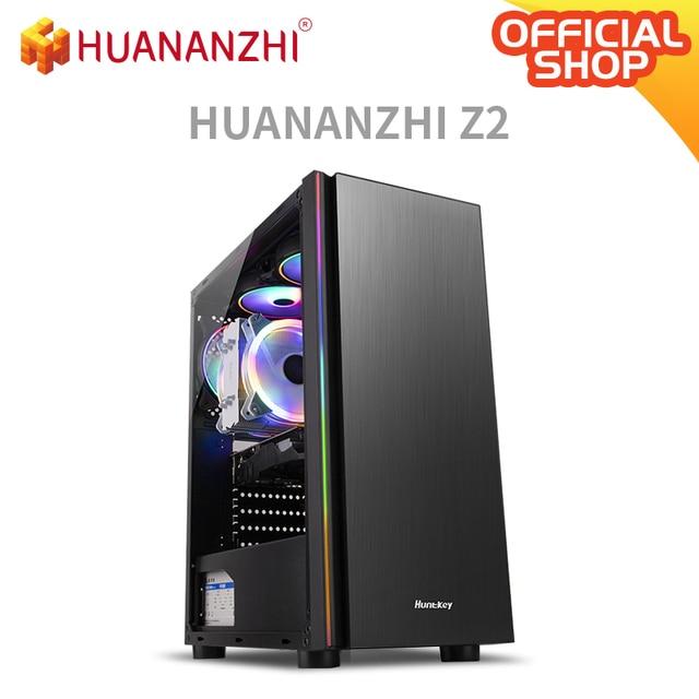 HUANANZHI Z2 Gaming E5 Desktop Computer cpu 2689 DDR3 2*16G Gaming Card GTX 1050TI 4G SSD 480G High cost performance Gaming PC 1