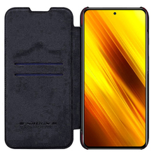 For Xiaomi Poco X3 NFC Cover Nillkin QIN leather Case Card Pocket wallet bag protection Flip Cover For Xiaomi Poco X3 NFC