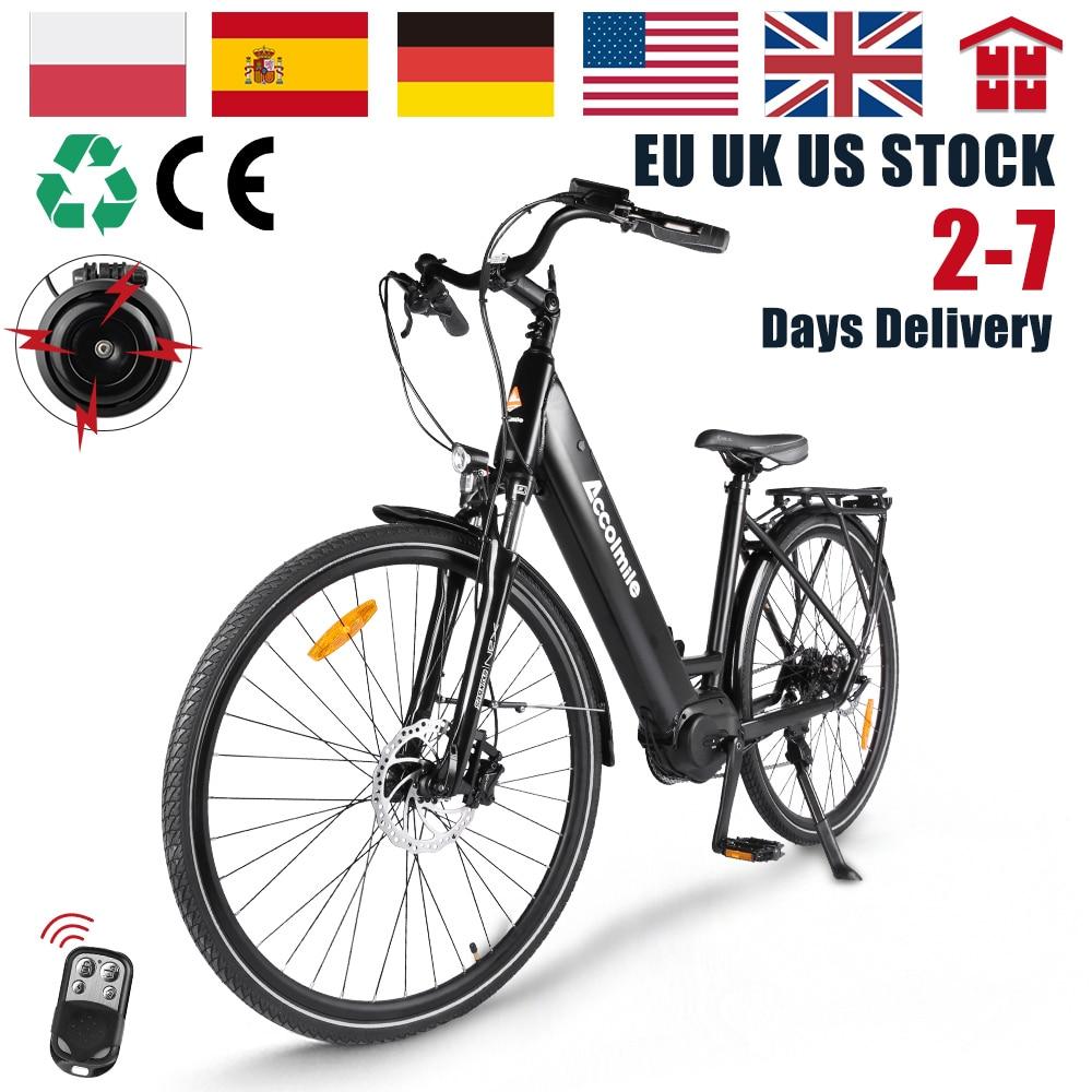 Electric Bike 28 Inch City Bicycle 250W Mens Women's Ebike Bafang M200 Torque Sensor Motor 700C Urban E-bike 140KM CE Approval