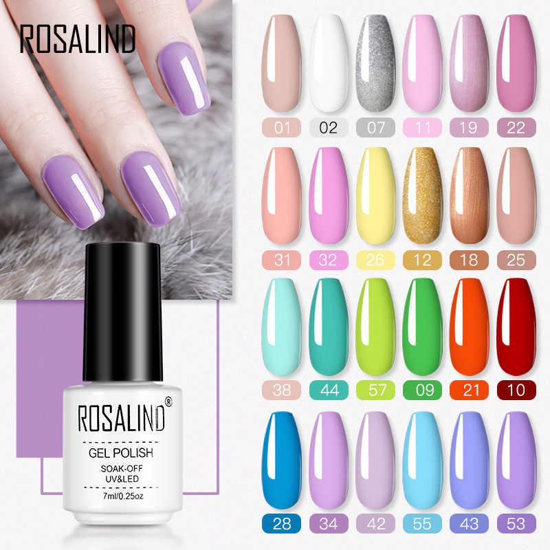 Rosalind Gel Polish Hybrid Vernissen Nagels Art Pure Kleuren Semi Permanente Gel Lak Nagellak Soak Off Uv Alle Weer manicure