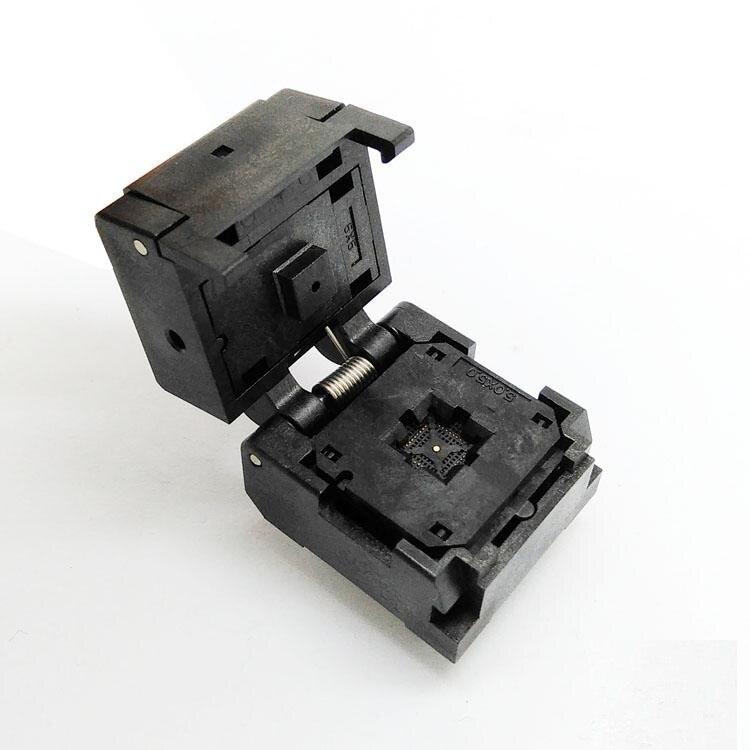 QFN-32-0.4 graver dans la prise QFN32 IC Test broche pas de broche 0.4mm flip-over shrapnel vieillissement siège 4*4mm