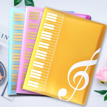 1pcs Creative A4 Music Teaching Supplies 40 Layer Music Piano Score File Folder Fashion School Music Learning Filing Products music