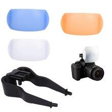 3 цвета 3 в 1 всплывающая крышка рассеивателя вспышки для Canon Nikon Pentax Kodak DSLR SLR Flash Bounce Diffuser Cover
