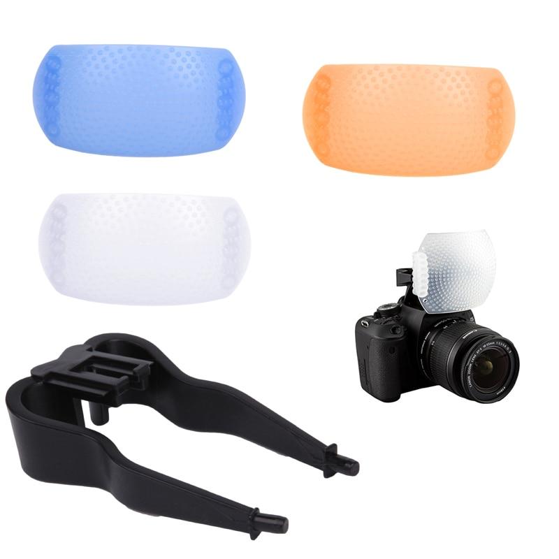 2019 NEW 3 Color 3 In 1 Pop-Up Flash Diffuser Cover For Canon Nikon Pentax Kodak DSLR SLR Flash Bounce Diffuser Cover