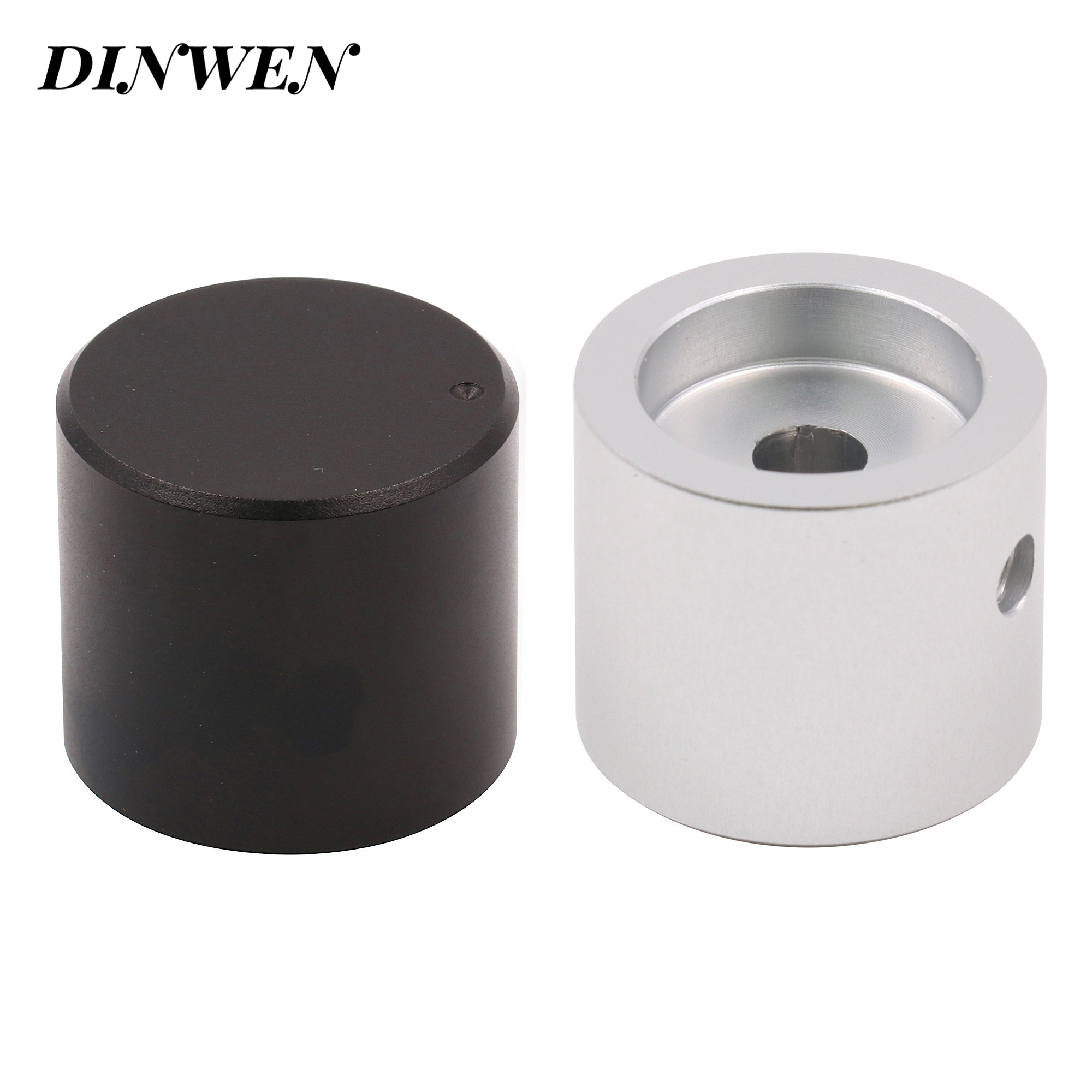 25*22mm Machined Solid Aluminum Volume Potentiometer knob HIFI Car Audio Tube Headphone AMP Sound Control Cap Button