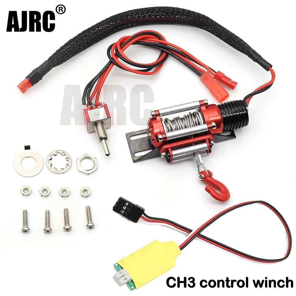 เหล็กกล้าไร้สนิมแบบมีสายแบบอัตโนมัติWinchกับสวิทช์สำหรับ 1/10 Redcat HPI TAMIYA Axial SCX10 TRAXXAS TRX-4 RC4WD D90 RCรถ